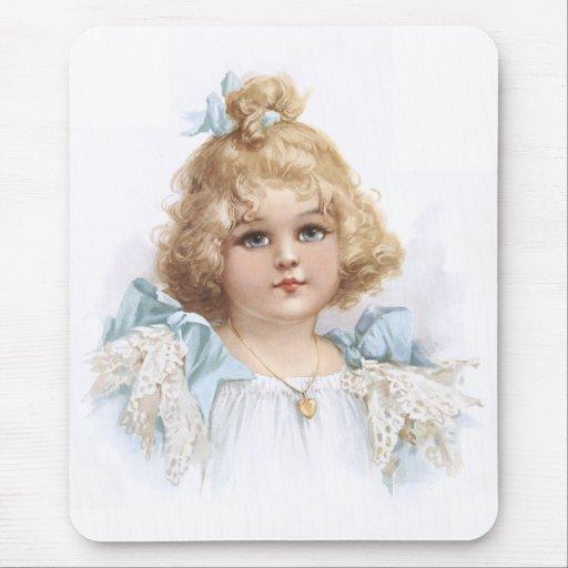 Frances Brundage - retrato de una chica joven Alfombrilla De Ratones