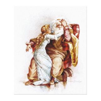 Frances Brundage: Rey Lear y Cordelia Impresión En Lona