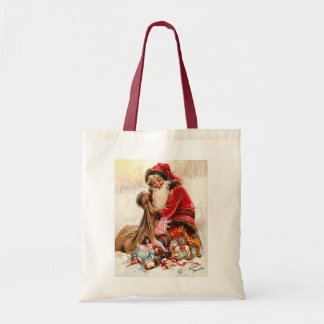 Frances Brundage - Santa Claus with Toy Tote Bag
