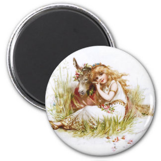 Frances Brundage: Titania and the Clown 2 Inch Round Magnet