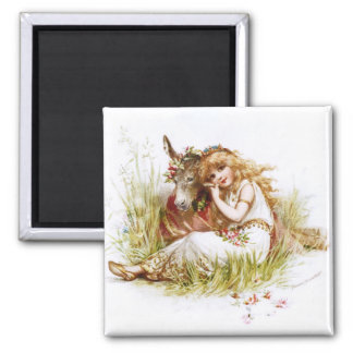 Frances Brundage: Titania and the Clown 2 Inch Square Magnet