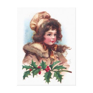 Frances Brundage: Winter Girl with Holly
