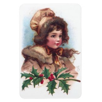 Frances Brundage: Winter Girl with Holly