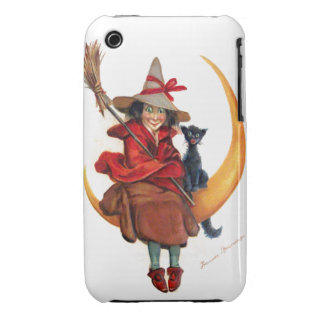 Frances Brundage: Witch on Sickle Moon iPhone 3 Cases
