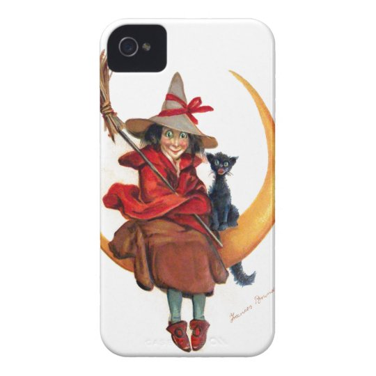 Frances Brundage: Witch on Sickle Moon Case-Mate iPhone 4 Case