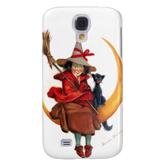 Frances Brundage: Witch on Sickle Moon Galaxy S4 Cover