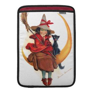 Frances Brundage: Witch on Sickle Moon MacBook Air Sleeve