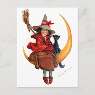 Frances Brundage: Witch on Sickle Moon