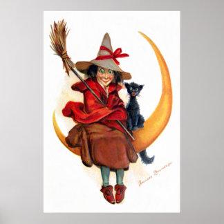 Frances Brundage: Witch on Sickle Moon Poster