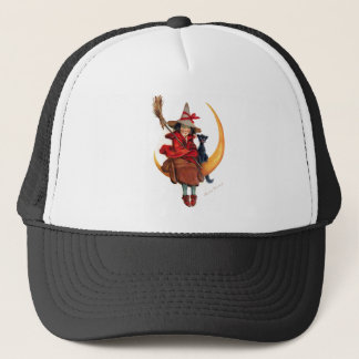 Frances Brundage: Witch on Sickle Moon Trucker Hat