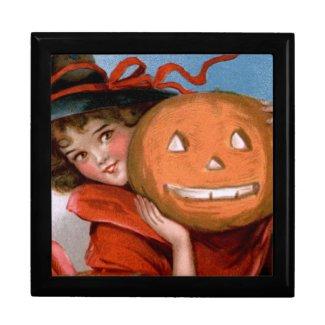 Frances Brundage: Witch with Jack O`Lantern