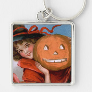 Frances Brundage: Witch with Jack O'Lantern Keychain