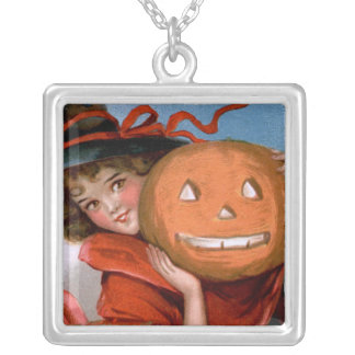 Frances Brundage: Witch with Jack O'Lantern Jewelry