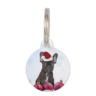 Francés Bulloog del navidad Placas De Mascota