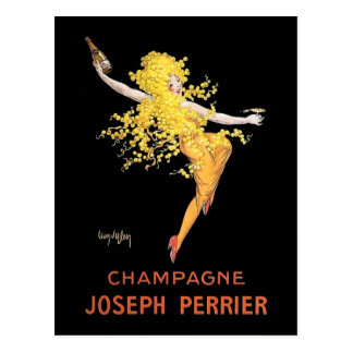 Francés Champán del vintage Postales