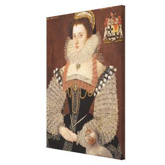 Frances Clinton, Lady Chandos (1552-1623) 1579 (oi Canvas Print