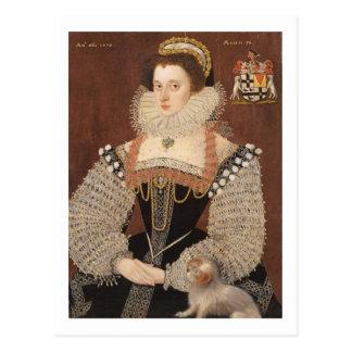 Frances Clinton, Lady Chandos (1552-1623) 1579 (oi Postcard