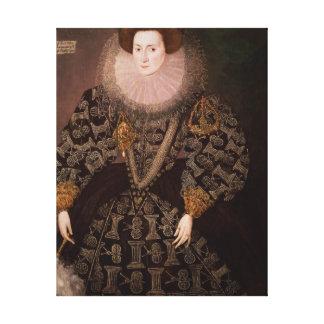 Frances Clinton, Lady Chandos , 1589 Canvas Print