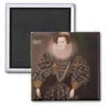 Frances Clinton, Lady Chandos , 1589 2 Inch Square Magnet
