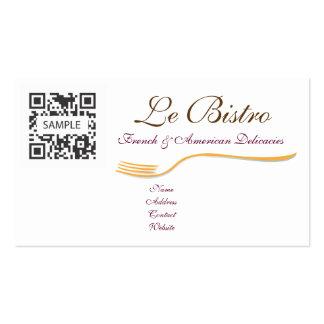 Francés de cena fino de la plantilla de la tarjeta tarjetas de visita