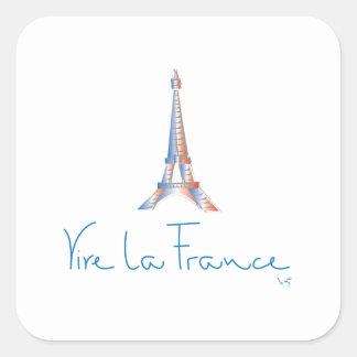 Francés de Francia del La de Viva Pegatina Cuadrada
