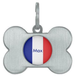 Francés de la bandera de Francia Placas Mascota