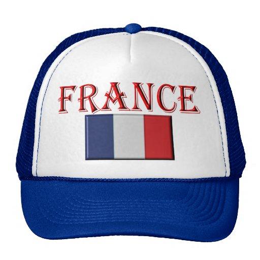 francés de la bandera gorras de camionero