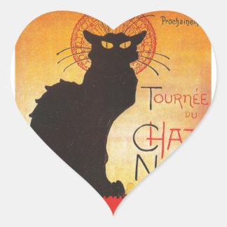 Francés de Tournée du Chat Noir Théophile Steinlen Pegatina En Forma De Corazón