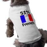 Francés del 51% camisetas mascota