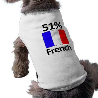 Francés del 51% playera sin mangas para perro