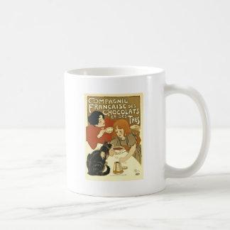 Francés del anuncio del vintage de Compagnie Taza De Café