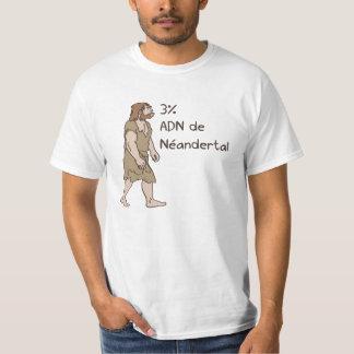 Francés del Neanderthal del 3% Remeras