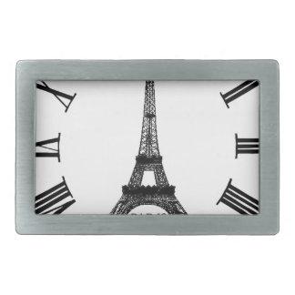 Francés del reloj de la torre Eiffel de París Hebilla De Cinturon Rectangular