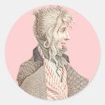 Francés del siglo XVIII elegante con el pelo largo Pegatinas