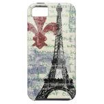 Francés del vintage de la torre Eiffel iPhone 5 Funda