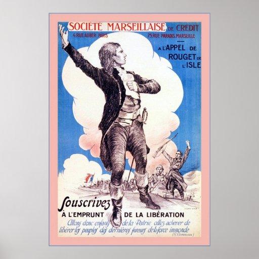 Francés del vintage del ~ de Société Marseillaise  Póster