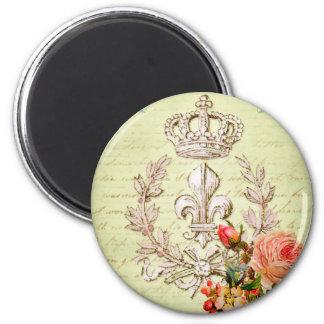 Francés del vintage imán redondo 5 cm