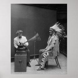 Frances Densmore Audio Recording Blackfoot Chief print