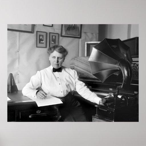 Frances Densmore en el trabajo, 1917 Impresiones