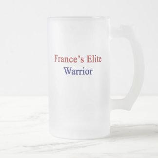 France's Elite Warrior Frosted Glass Beer Mug