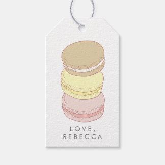Francés en colores pastel Macarons Etiquetas Para Regalos
