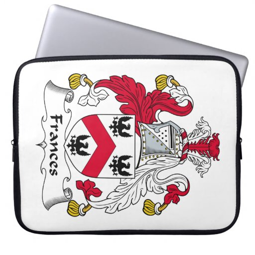 Frances Family Crest Laptop Computer Sleeves