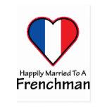 Francés feliz casado postales