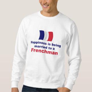 Francés feliz casado sudadera con capucha
