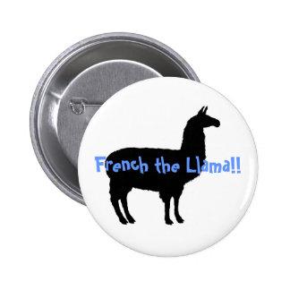 ¡Francés la llama!! Pin Redondo 5 Cm