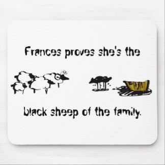 Frances las ovejas negras alfombrilla de raton