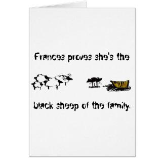 Frances las ovejas negras tarjeta de felicitación