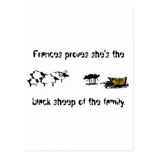 Frances las ovejas negras tarjetas postales