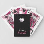 Francés lindo baraja de cartas