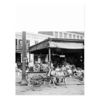 Francés Market, New Orleans, 1910 Postal